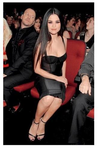 dress black dress little black dress selena gomez sandals amas 2015 bodycon dress