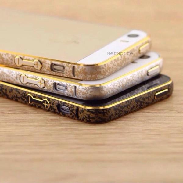 phone cover gold iphone 5 case bumper