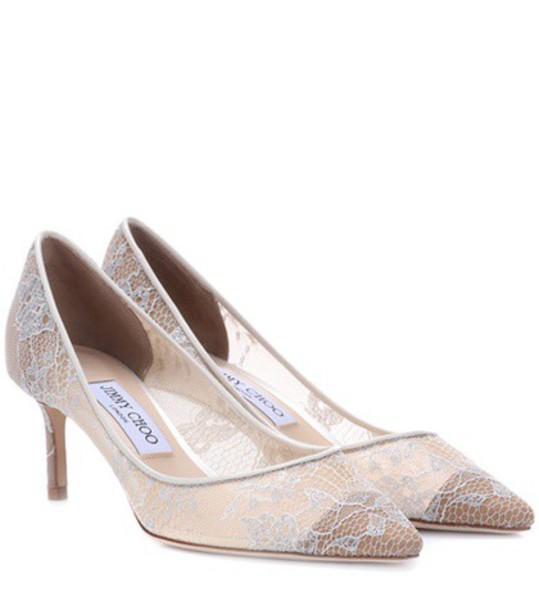 Jimmy Choo pumps lace white shoes