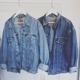 jacket jeans denim jacket denim denim levi's vintage blue light blue shirt coat denim jacket oversized blouse big jade thirlwall denim jacket trendy fashion denim backpack 80's rock grunge puff indie jacket