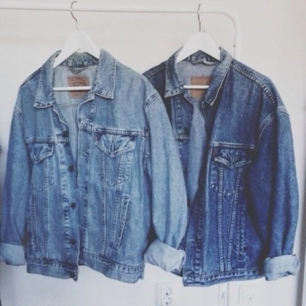 Bien-aimé Jacket: denim jacket, denim, indie, oversized, grunge, jeans  UK72