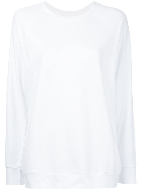 The Upside sweatshirt basic women white cotton sweater