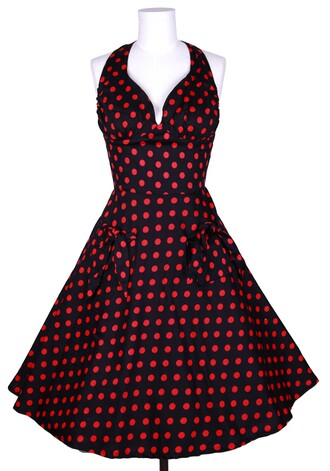 50s style pin up polka dots rockabilly vintage retro housewife swing dress