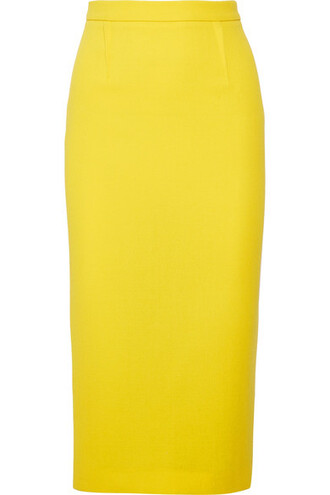 skirt wool yellow