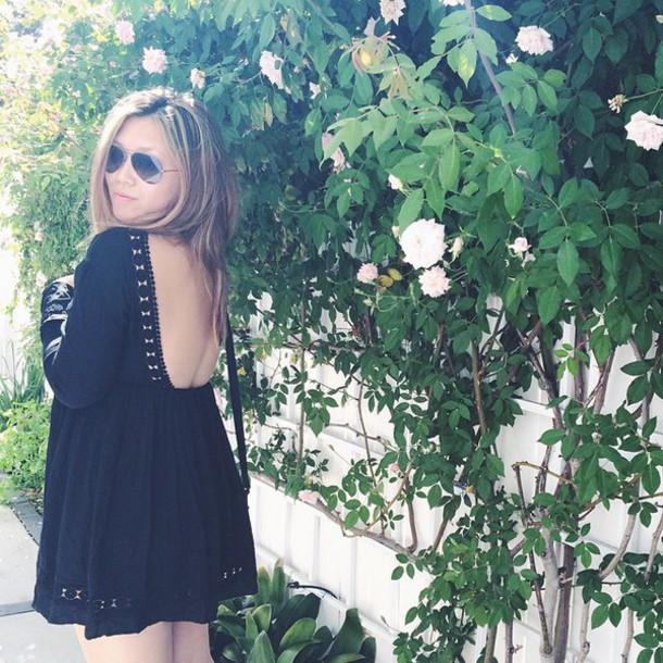 dress tularosa black dress open backed dress short black revolve clothing revolveme revolve