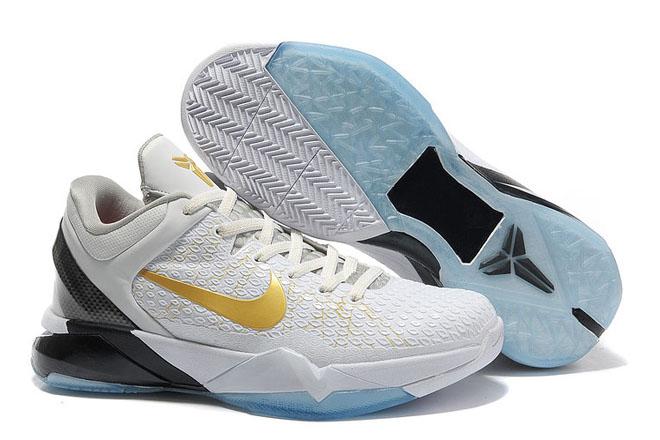 Kobe 7 (VII) Elite White/Gold-Black Nike Men's Size Shoes