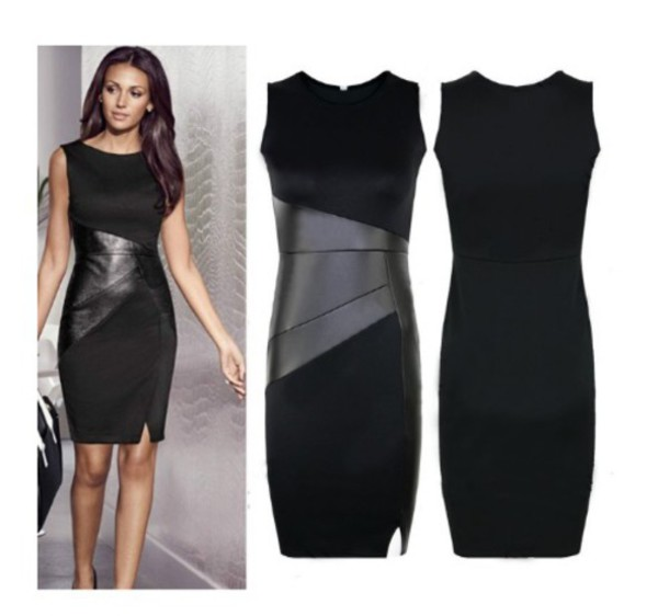 dress black dress with leather leather leather dress black dress