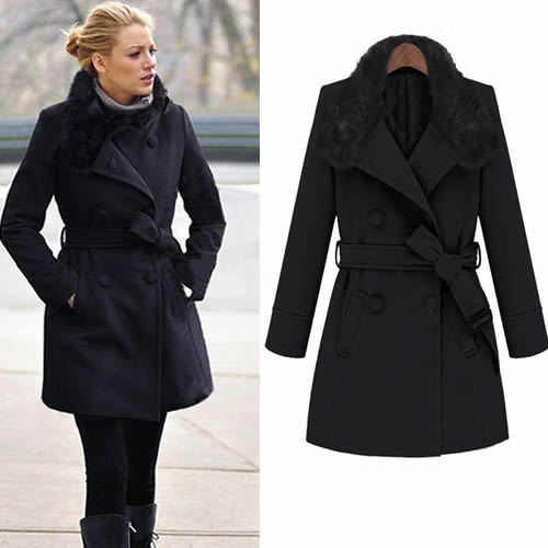 Rabbit fur gossip girl blake lively long sleeve warm rabbit fur gossip girl blake lively long sleeve warm woolen coat