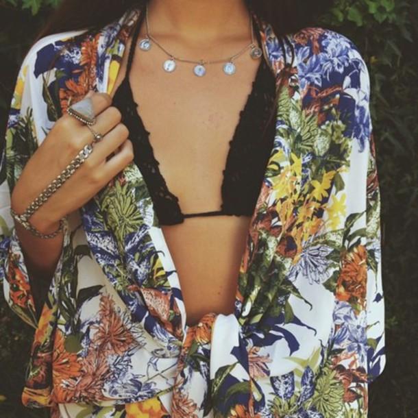 top colorful kimono boho bohemian