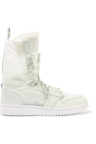 mesh high sneakers leather white suede off-white shoes