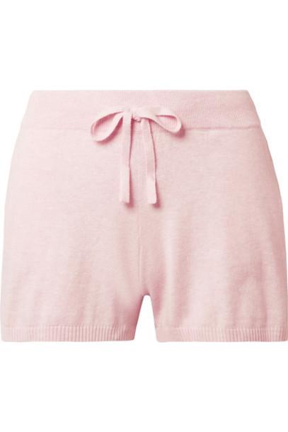 shorts pajama shorts pastel cotton pink pastel pink