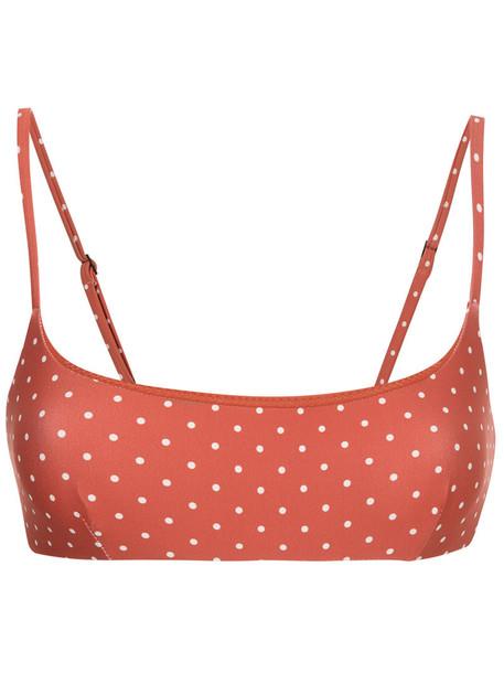 MATTEAU bikini bikini top women spandex yellow orange swimwear