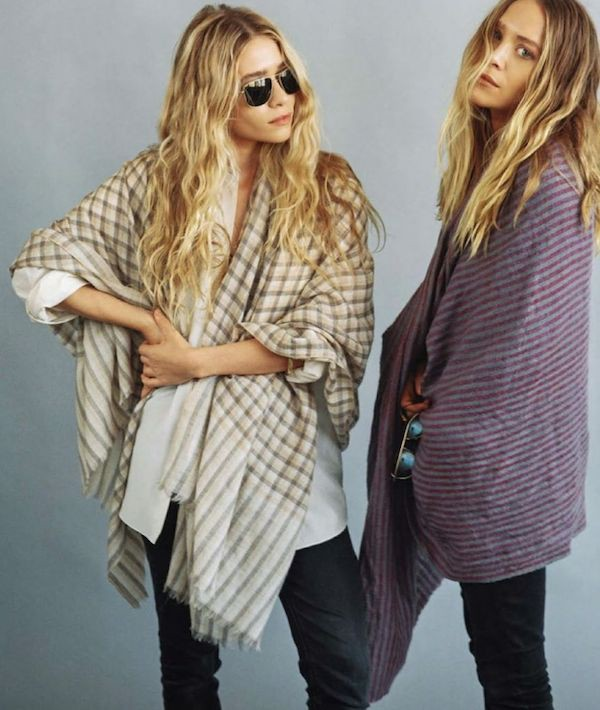 olsen sisters blogger sunglasses scarf