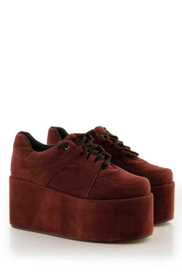 shoes creepers red beautiful