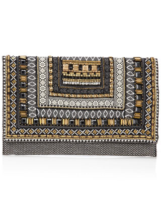 Baroque Geo Braid Clutch Bag | Multi | Accessorize