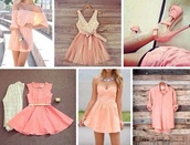 dress,pink dress,white dress,girly,party dress,lace,blonde hair,mini dress,bows,bow,light pink,cream,baby pink,stylish,style