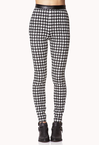 Chic Houndstooth Leggings | FOREVER21 - 2073325110