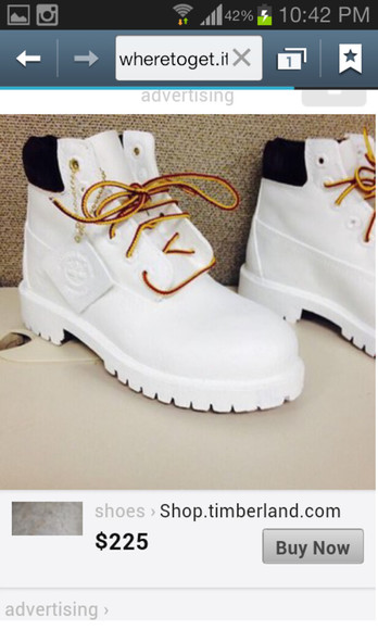shoes timberlands white and gold
