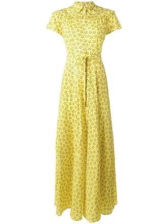 dress print dress women spandex print silk yellow orange