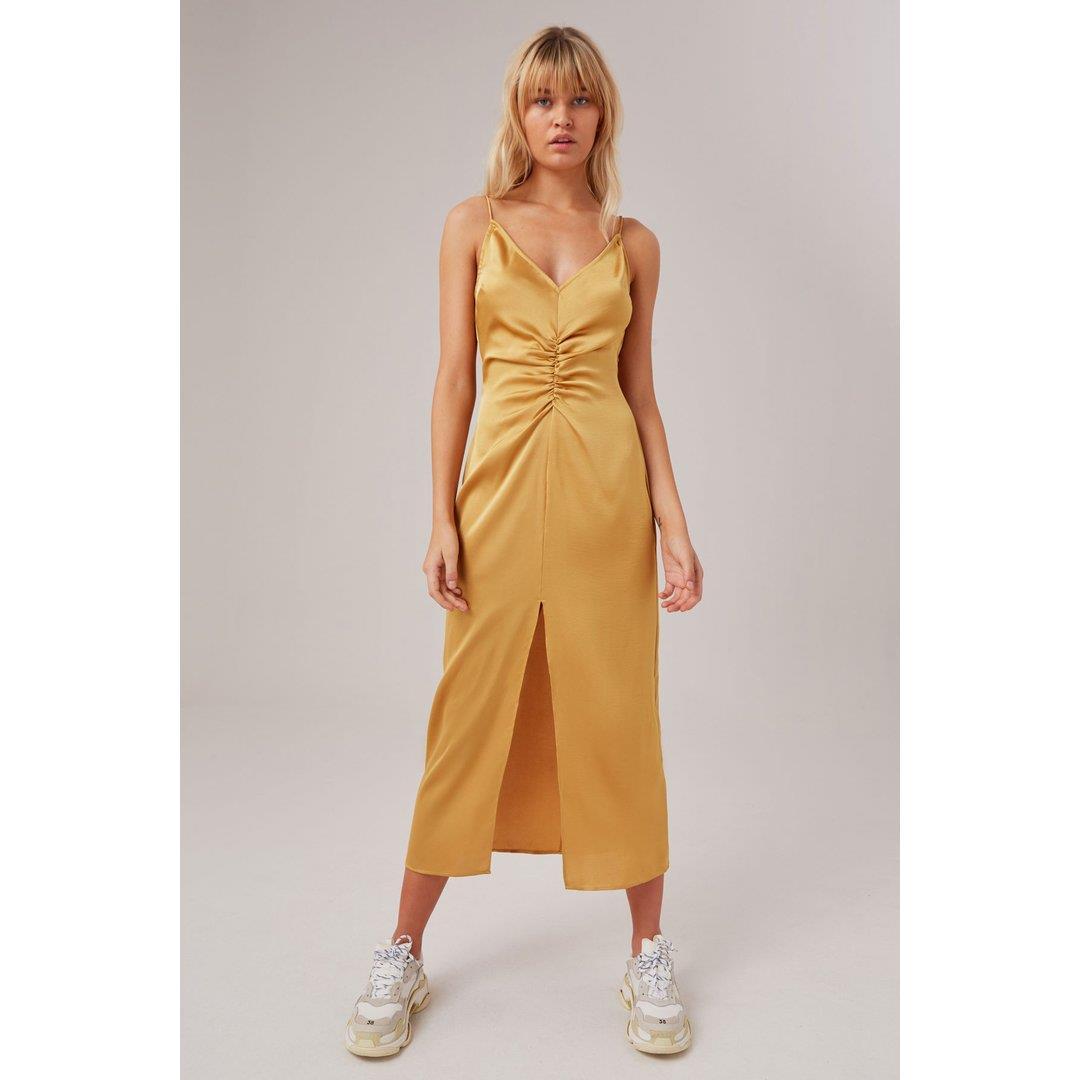POPULATION DRESS - GOLDEN YELLOW