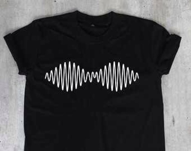 t-shirt arctic monkeys shirt band black white symbol