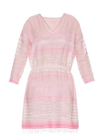 dress striped dress pink