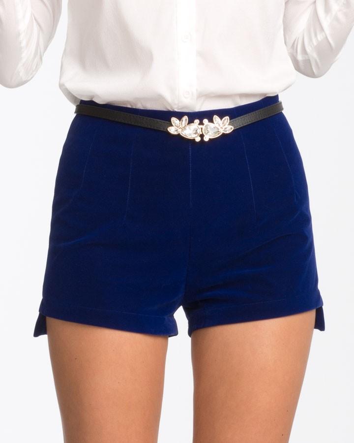 Blue Velvet Shorts