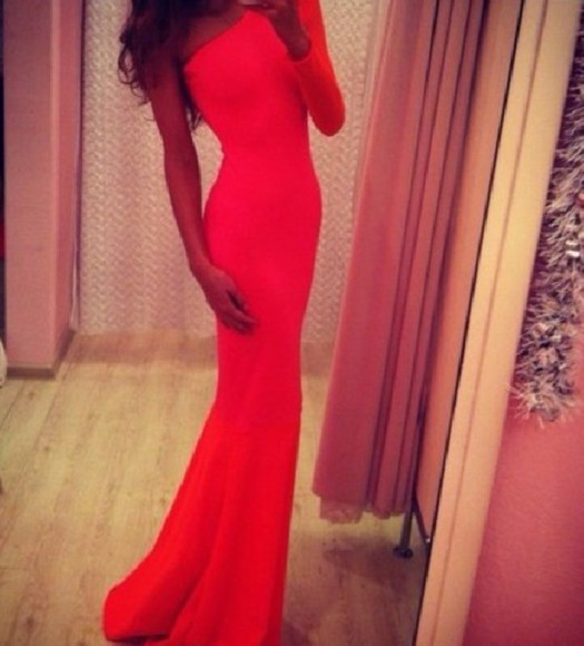 dress red dress long dress red prom dress longdress