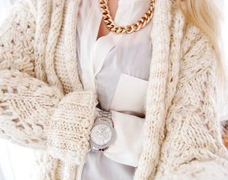 cardigan white knit white cardigan knit cardigans