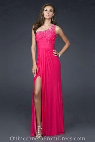 dress prom dress quinceanera dress pink dress