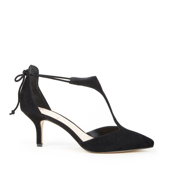 Sole Society Dree T Strap Pump - Black-5.5