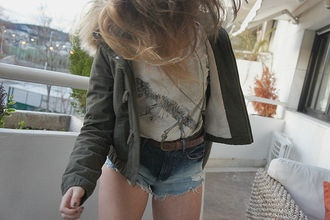 shorts high waisted denim vintage high waisted shorts cut off shorts dip dyed shirt blouse