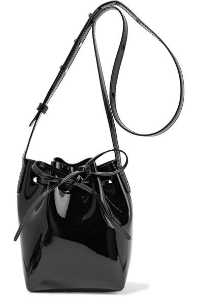 Mansur Gavriel - Mini Mini patent-leather bucket bag
