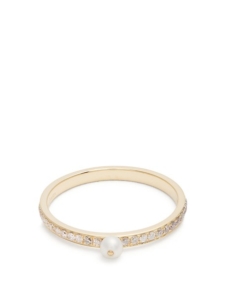 pearl ring gold ring gold yellow jewels