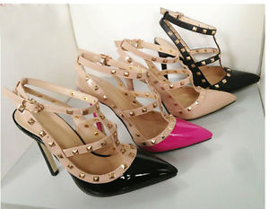 Fashion Sexy Women's Pointed Toe Studded Spike Pumps Stiletto High Heels Shoes | eBay