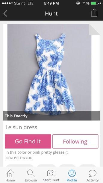 dress blue white blue and white spring sundress porcelain print porcelain