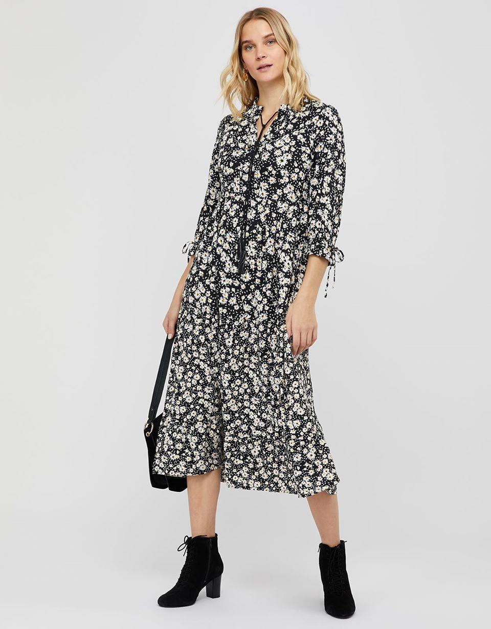 Eden Lenzing™ Ecovero™ Daisy Print Tiered Dress
