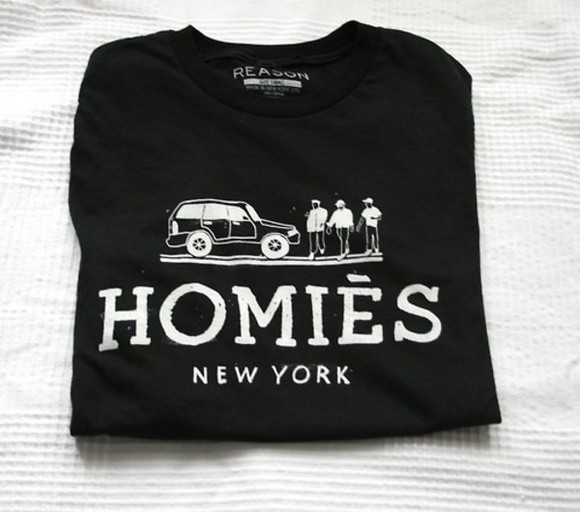 homies t-shirt top ny new york city sweater tank top black shirt black milk newyorkcity