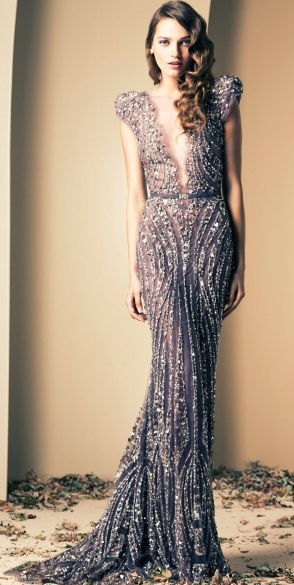 Wholesale 2014 Ziad Nakad Luxury Mermaid Evening Gowns Prom Dresses ...