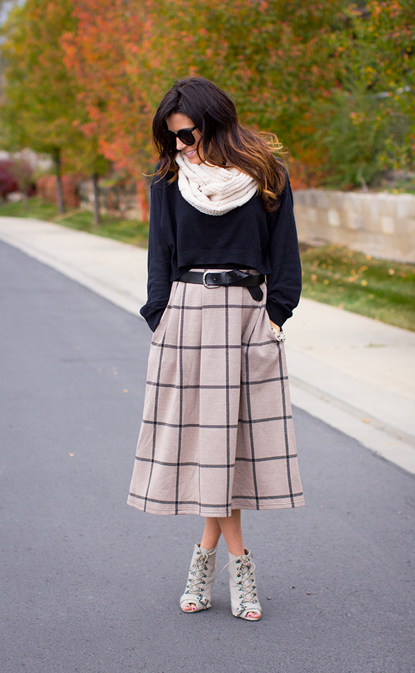 hello fashion sweater skirt coat shoes belt bag jewels scarf