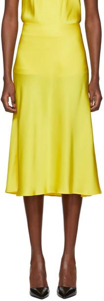 Protagonist skirt flare skirt flare yellow