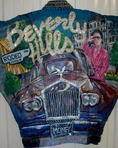 Collectible Wearable Art Tony Alamo Beverly Hills Rodeo Drive Rolls Jean Jacket | eBay