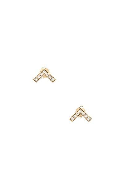 Elizabeth and James Edo Stud Earrings in gold / metallic