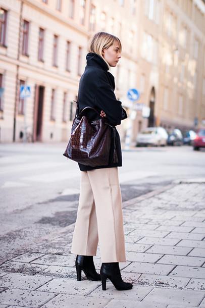 chaloth blogger coat bag pants shoes