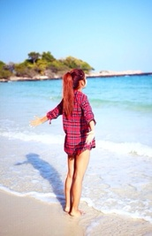 shirt,flannel shirt,blouse,jacket,plaid shirt,beach,flannel,squares,hipster,swag,red,square blouse