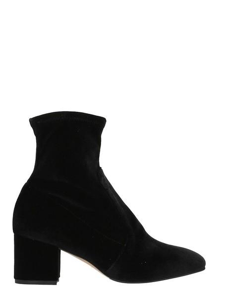 The Seller booties velvet black shoes