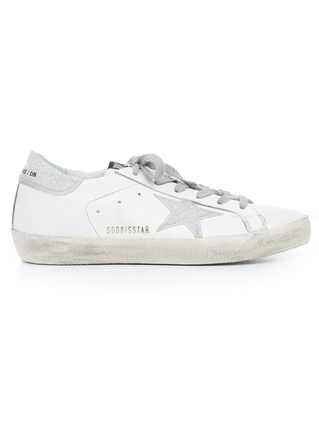 Golden goose sneakers glitter silver silver glitter shoes