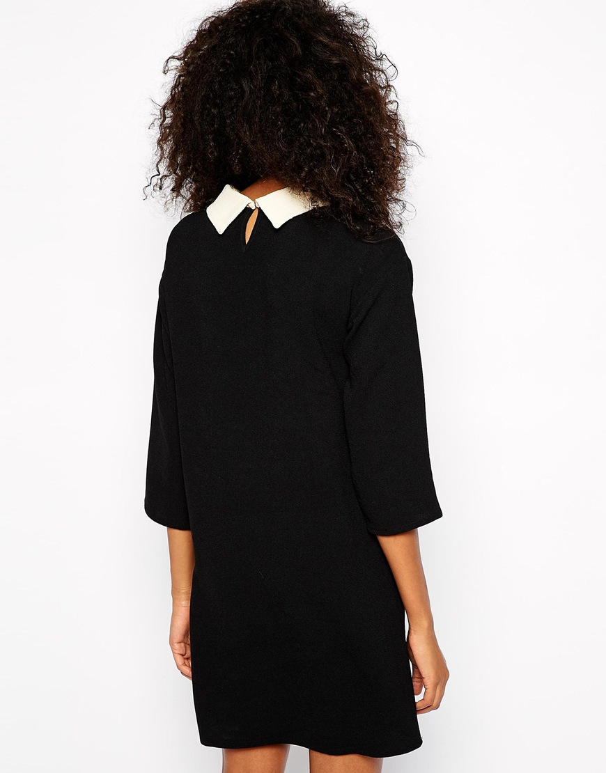 Vero Moda Collared Shift Dress at asos.com