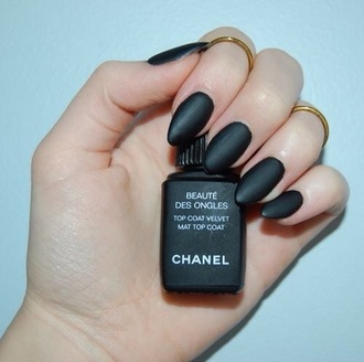nail polish chanel top coat mat nails black make-up nail chanel polish velvet mat  top coat matte nail polish matte cute