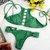 Chicloth Solid Color Greenfield String Bikini Set